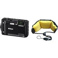 Nikon COOLPIX W300 Schwarz + 2in1 Schwimmriemen - Digitalkamera