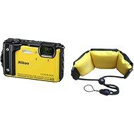 Nikon COOLPIX W300 Gelb + 2in1 Schwimmriemen - Digitalkamera