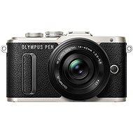 Olympus PEN E-PL8 schwarz + Pancake Objektiv ED 14-42EZ schwarz - Digital-Kamera
