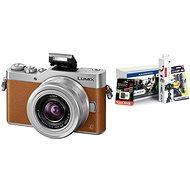 Panasonic LUMIX DMC-GX800 Braun + 12-32mm Objektiv + Alza Foto Starter - Digitalkamera