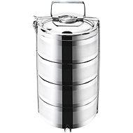 Transportbox für Lebensmittel Thermo Edelstahl 4-stöckig - 16 cm - Speisebox