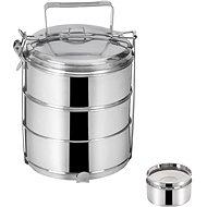 Transportbox für Lebensmittel aus Edelstahl + Deckel - 3 x 1,3 Liter