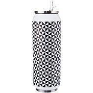 ORION Black & White Thermoskanne aus Edelstahl 0,7 Liter - Thermosflasche