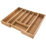 ORION Besteckkasten aus Bambus, ausziehbar 26 cm x 35,5 cm x 4,5 cm - Organiser