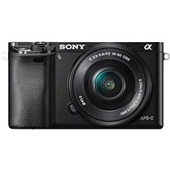 Sony Alpha 6000 E-Mount-Kamera mit APS-C-Sensor, schwarz + Objektiv 16-50 mm - Digitalkamera
