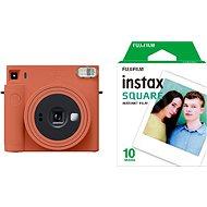 Fujifilm Instax Square SQ1 orange + 10x Fotopapier - Sofortbildkamera