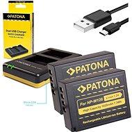 PATONA Photo Dual Quick Fuji NP-W126 + 2x 1020mAh Batterien - Akku-Ladegerät