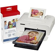 Canon SELPHY CP1300 - Weiß, mit Canon Fotopapier KP-36 - Sublimationsdrucker
