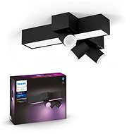 Philips Hue White and Color Ambiance Centris 3L Cross Ceiling Black 50608/30/P7 - Deckenleuchte