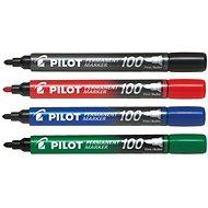 PILOT Permanent Marker 100 1mm Set mit 4 Farben - Marker