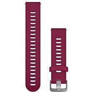 Garmin Quick Release 20 Silikonband Weinrot (silberne Schnalle) - Armband
