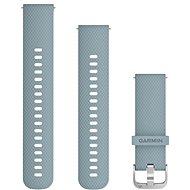 Garmin Quick Release 20 Silikonband grau (silberne Schnalle) - Armband