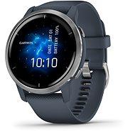 Garmin Venu 2 Silver/Granite Blue Band - Smartwatch