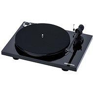 Pro-Ject Essential III + OM10 Pianolack schwarz - Plattenspieler