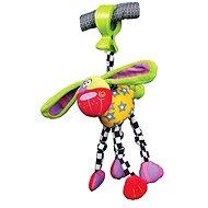 Playgro - Zany Zoo- Wonky Wiggler Dog - Spielhündchen - Kinderbett-Spielzeug