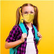 Roncato Kinder-Gesichtsmaske mit Viraloff, Größe XS (6-12 Jahre), GELB - Gesichtsmaske
