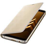 Neon Flip Handy Schutzhülle für Samsung Galaxy A8 (2018) EF-FA530P gold - Handyhülle
