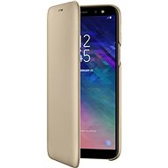 Samsung Galaxy A6 Brieftasche Cover Gold - Handyhülle