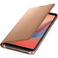 Samsung Galaxy A7 2018 Flip Wallet Cover Gold - Handyhülle