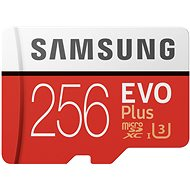 Samsung MicroSDXC 256 GB EVO Plus UHS-I U3 + SD-Adapter - Speicherkarte