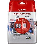 Tintenpatrone Canon PG-545XL + CL-546XL + Fotopapier GP-501 - Tintenpatrone