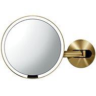 "Simplehuman Sensor mit LED-Beleuchtung, Wandmontage, ""Messing"" Edelstahl - Kosmetikspiegel"
