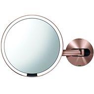 Einfacher menschlicher Sensor mit LED-Beleuchtung, Rotgold-Edelstahl - Kosmetikspiegel