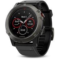 Garmin fenix 5X Sapphire - Grau mit schwarzem Armband - Smartwatch