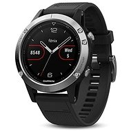 Garmin Phoenix 5 Silver Optic Black Band - Smartwatch