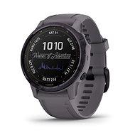 Garmin Fenix 6S Pro Solar, Amethyststahl, Shale Gray Band Schiefergrau - Smartwatch