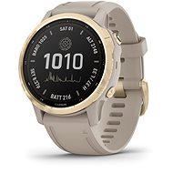 fenix 6S Pro Solar, Light Gold, Sand Band - Smartwatch