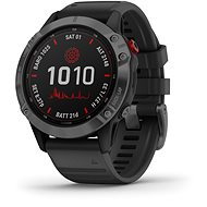 fenix 6 Pro Solar, Slate Gray, Black Band - Smartwatch