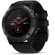 Garmin Fenix 5X Plus Sapphire Black, Black Band - Smartwatch