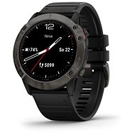 Garmin Fénix 6X Sapphire, Carbongrau DLC/SchwarzB Band - Smartwatch