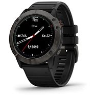 Garmin Fenix 6X Solar, TitaniumGrayDLC Black Band (MAP / Music) - Smartwatch