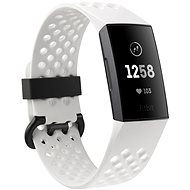 Fitbit Charge 3 Frost White Sport / Graphite ALuminium - Fitness-Armband