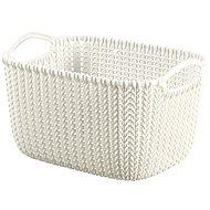 Curver Knit Runder Korb 8 L, cremefarben - Aufbewahrungsbox