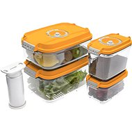 STATUS 5-teiliges Set Vakuumboxen Orange - Vakuum-Gerät