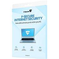 F-Secure INTERNET SECURITY für 3 Geräte pro Jahr (elektronische Lizenz) - Internet Security