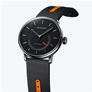Sequent SuperCharger 2.1 Premium Onyx schwarz mit schwarz/orangem Armband - Smartwatch