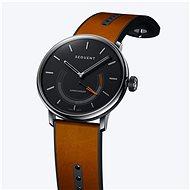 Sequent SuperCharger 2.1 Premium Onyx schwarz mit braunem Lederarmband - Smartwatch