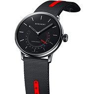 Sequent SuperCharger 2.1 Premium HR Onyx schwarz mit schwarz/rotem Band - Smartwatch