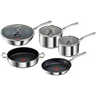 Tefal RESERVE Collection Triply E475S544 Topf- und Pfannenset 8-teilig - Topfset