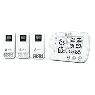 Airbi TRIO - Digitales Thermometer und Hygrometer mit 3 Funksensoren - Wetterstation