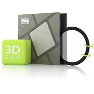 Tempered Glass Protector für Samsung Watch Active - 3D GLASS, Schwarz - Schutzglas