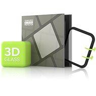 Tempered Glass Protector für Apple Watch 4 / 5 / 6 / SE 44mm; 3D Glas Schwarz - Schutzglas