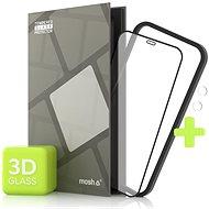 Tempered Glass Protector für iPhone 12 Mini, 3D Case Friendly, Schwarz + Kameraschutzglas - Schutzglas