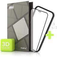 Tempered Glass Protector für iPhone 12 Pro Max, 3D Case Friendly, Schwarz + Kameraschutzglas - Schutzglas