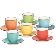 Tognana LOUISE ART&PEPPER Tassen mit Untertassen 250 ml - 6 Stück - Tasse + Untertasse
