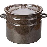 Toro 442827 Emaille Kochtopf mit Deckel 20 Liter, braun - Topf